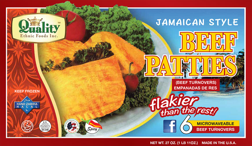 Jamaican Style Beef Patties (50 Pieces)