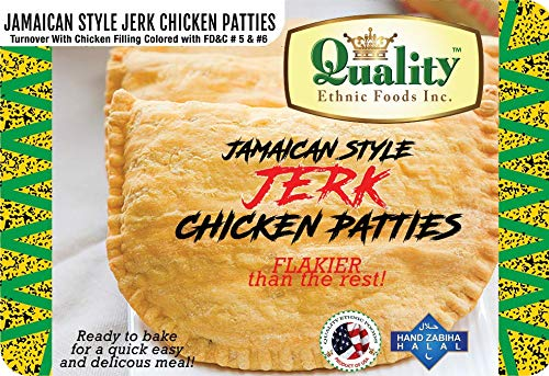 Jamaican Style Jerk Chicken Patties (50 Pieces)